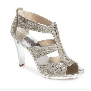 ♦️SOLD♦️Michael Kors Silver Glitter Sandals (NWOT)
